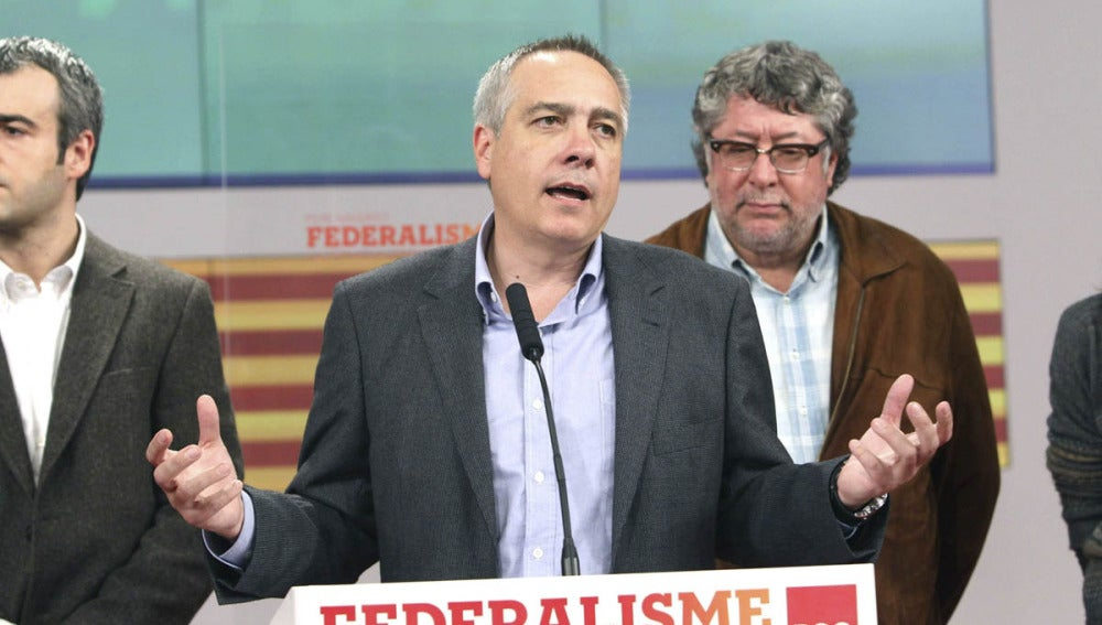 Pere Navarro tras conocer los resultados electorales