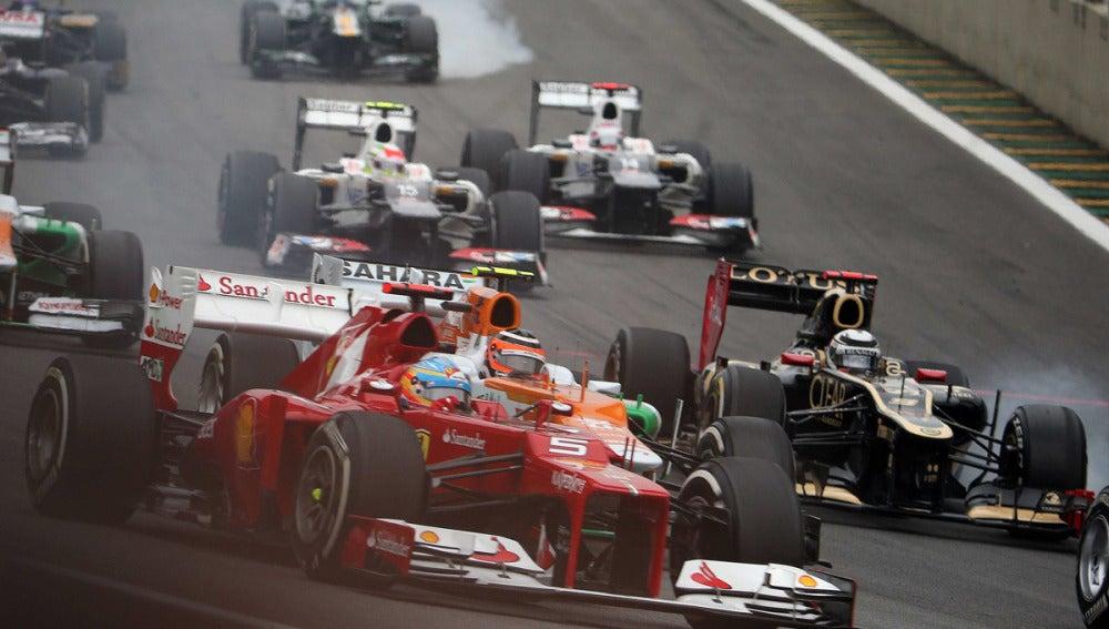 Salida del GP de Brasil