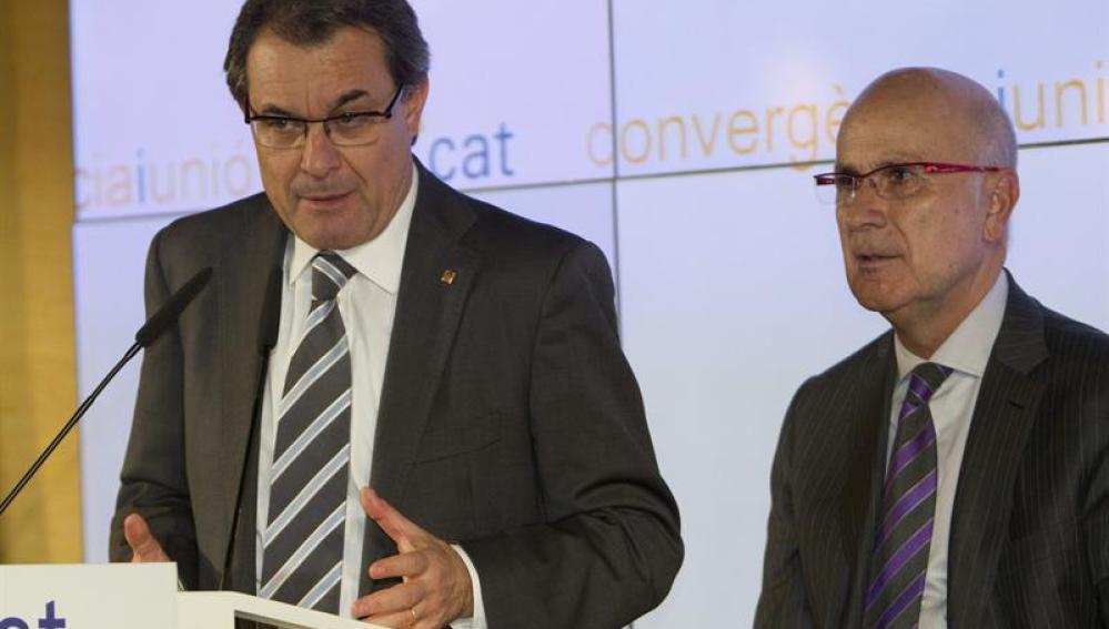 Artur Mas y Duran y Lleida analizan los resultados