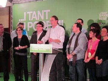 El candidato de ICV-EUiA a la Generalitat, Joan Herrera