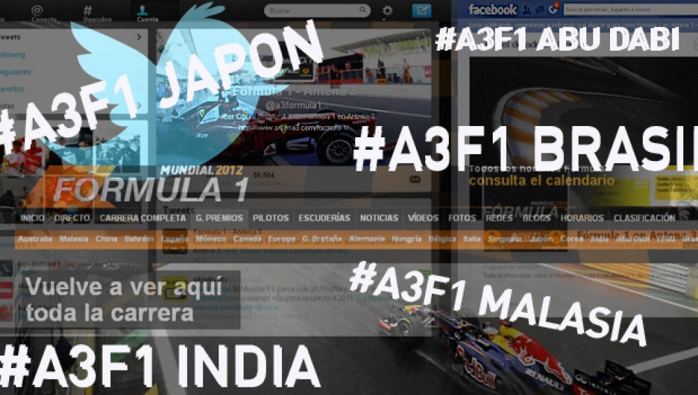 Gran impacto de la Fórmula 1 en las redes sociales.