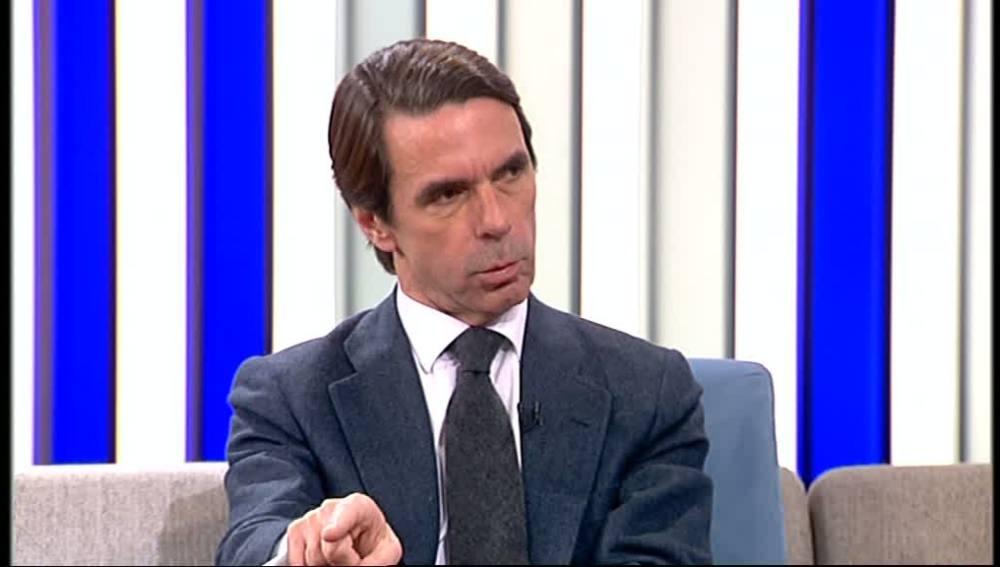 José María Aznar durante su entrevista en Espejo Público
