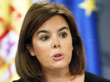 Soraya Sáenz de Santamaría, en la rueda de prensa posterior a un Consejo de Ministros