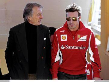 Montezemolo junto a Alonso en Cheste