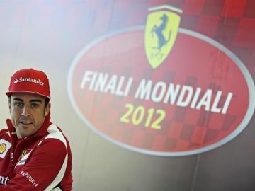 Alonso, en un acto en Cheste