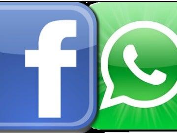 Logos de Facebook y Whatsapp