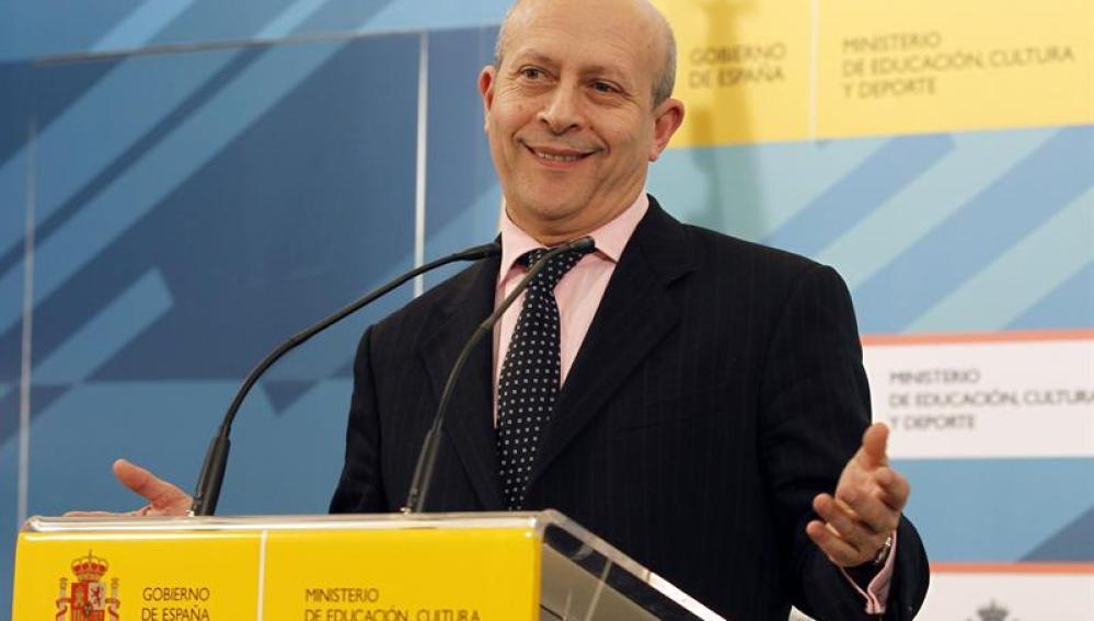 El ministro Wert en una rueda de prensa