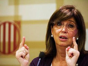 La consejera de Enseñanza de la Generalitat de Cataluña, Irene Rigau