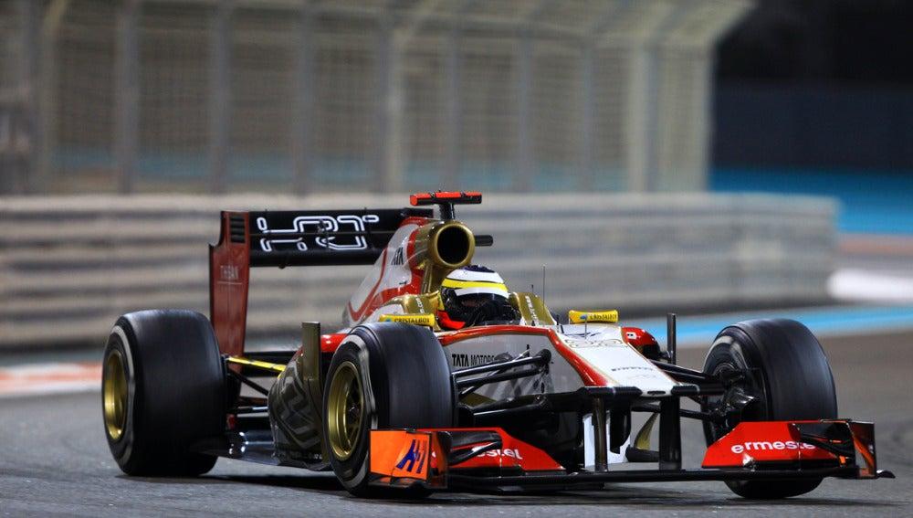 Pedro de la Rosa, a los mandos del F112