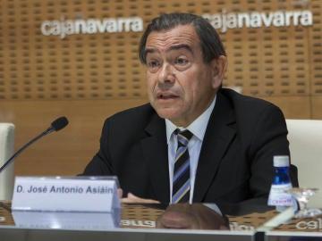 El presidente de Caja Navarra, José Antonio Asiáin