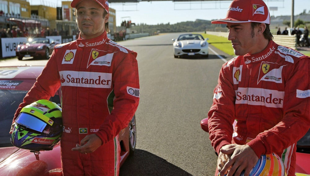 Massa y Alonso en Cheste