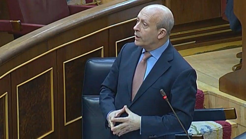 José Ignacio Wert en el Congreso de los Diputados