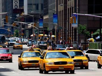 Los típicos taxis amarillos de Nueva York