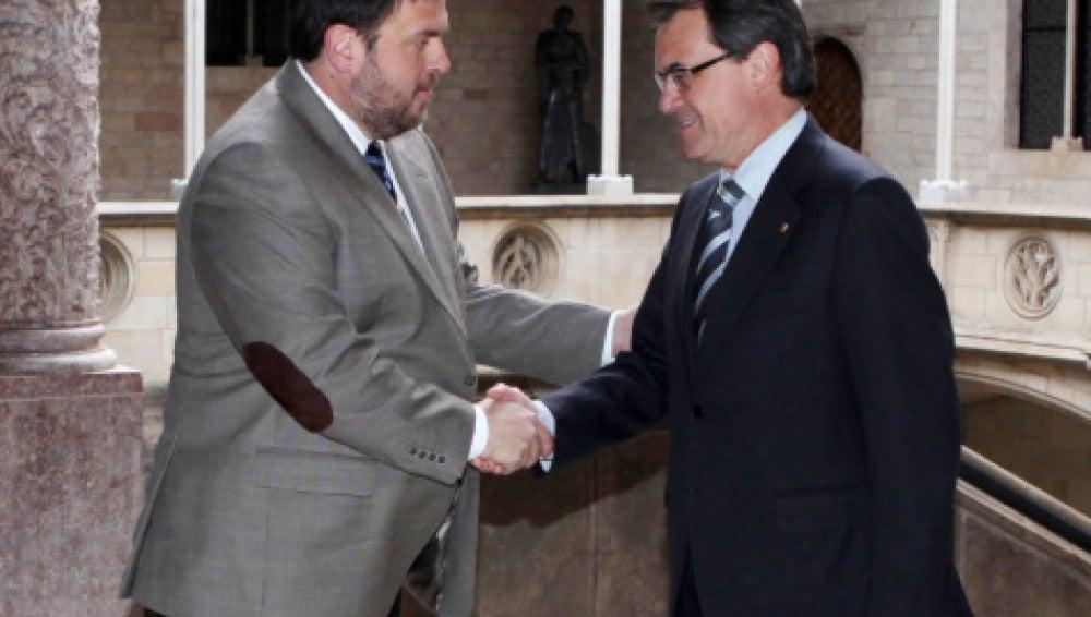 Artur Mas junto a Oriol Junqueras