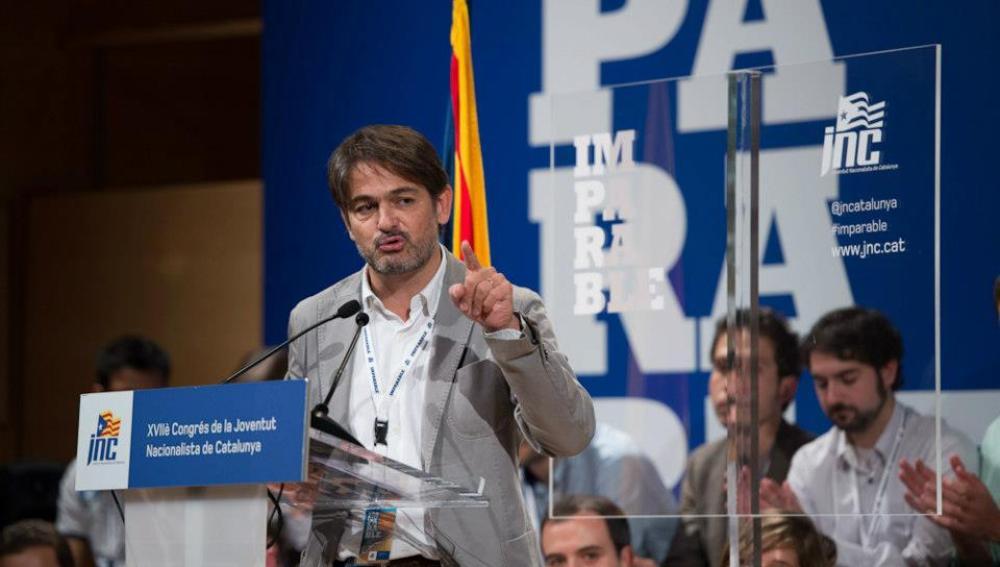 Oriol Pujol, secretario general de Convergència Democràtica de Catalunya (CDC)