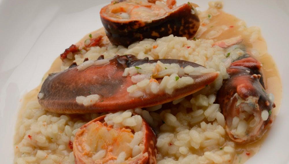 arroz caldoso con bogavante