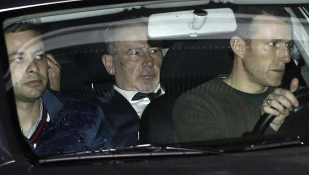 Rodrigo Rato a su salida de la Audiencia Nacional