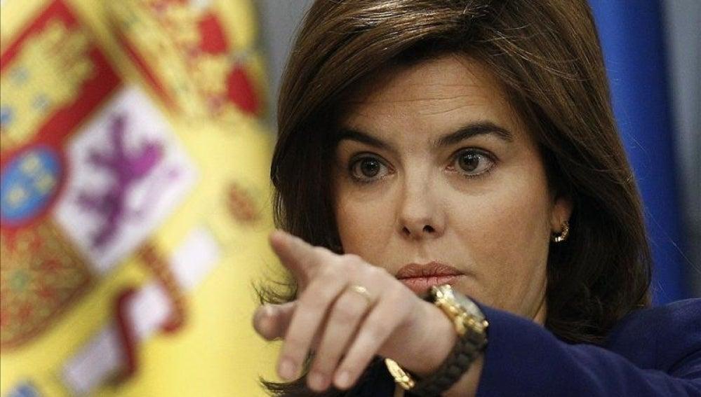 La vicepresidenta del Gobierno, Soraya Saénz de Santamaría.