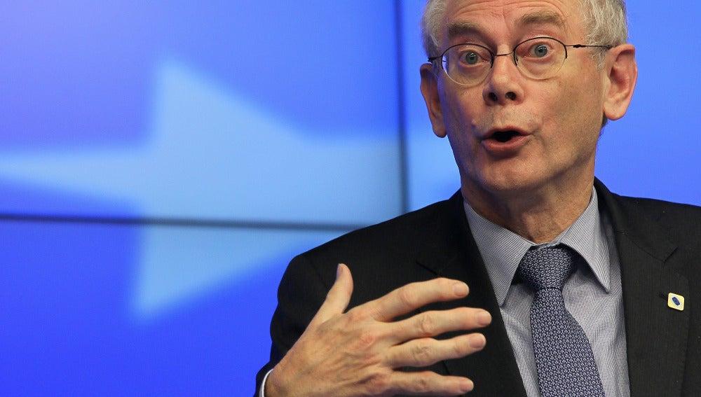 El presidente del Consejo Europeo Herman, Van Rompuy