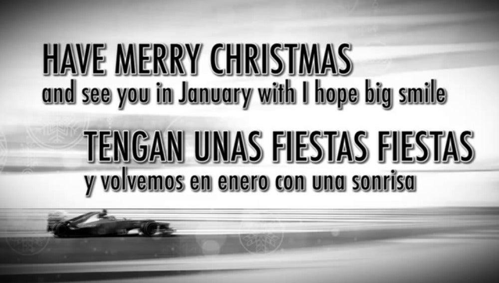 Alonso felicita la Navidad