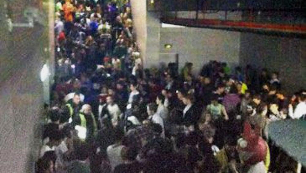 Pasillo de salida de la pista central del pabellón del Madrid Arena