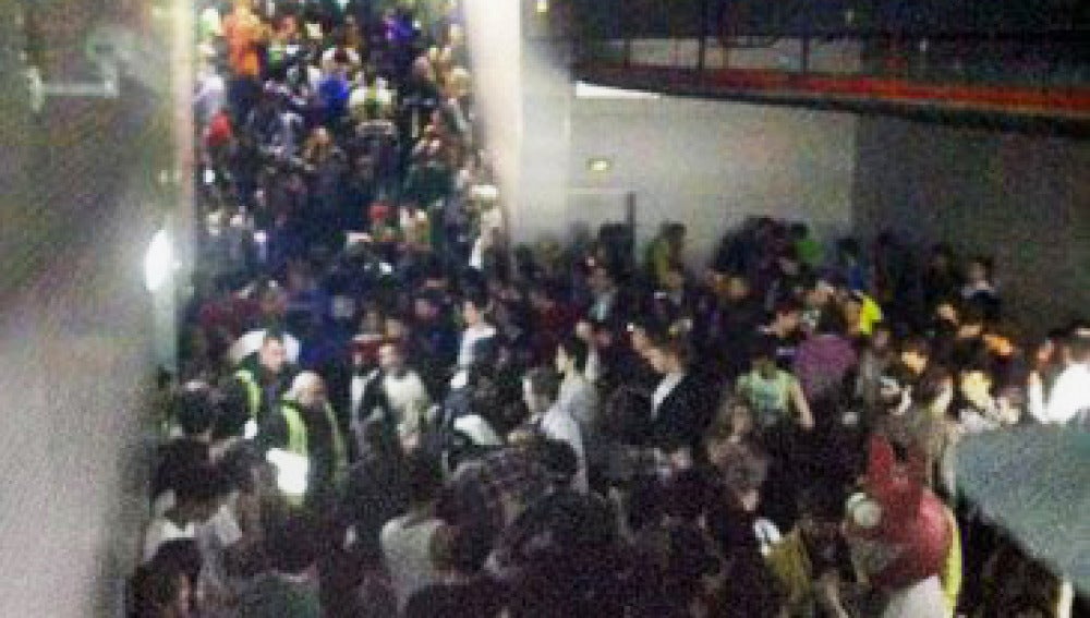 Pasillo de salida de la pista central del Madrid Arena