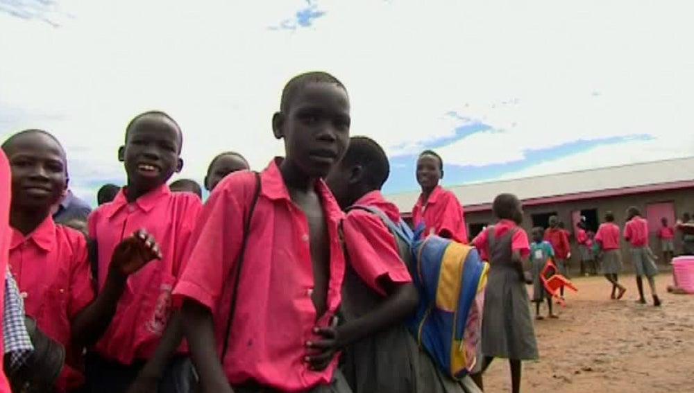 Niños en un orfanato de Sudán del Sur