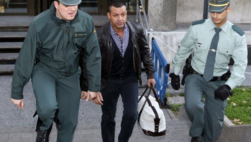 Miguel Ángel Flores a la salida de los Juzgados de Plaza Castilla