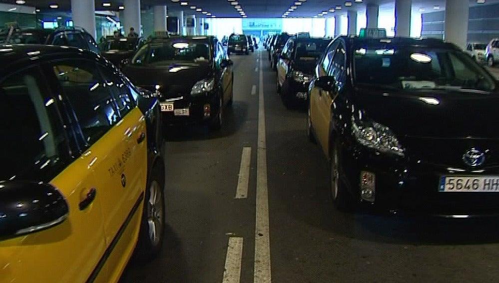 Taxis en el Prat, Barcelona
