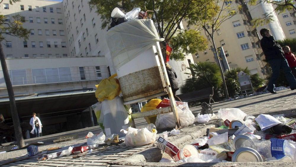Huelga de limpieza en el hospital de Alicante