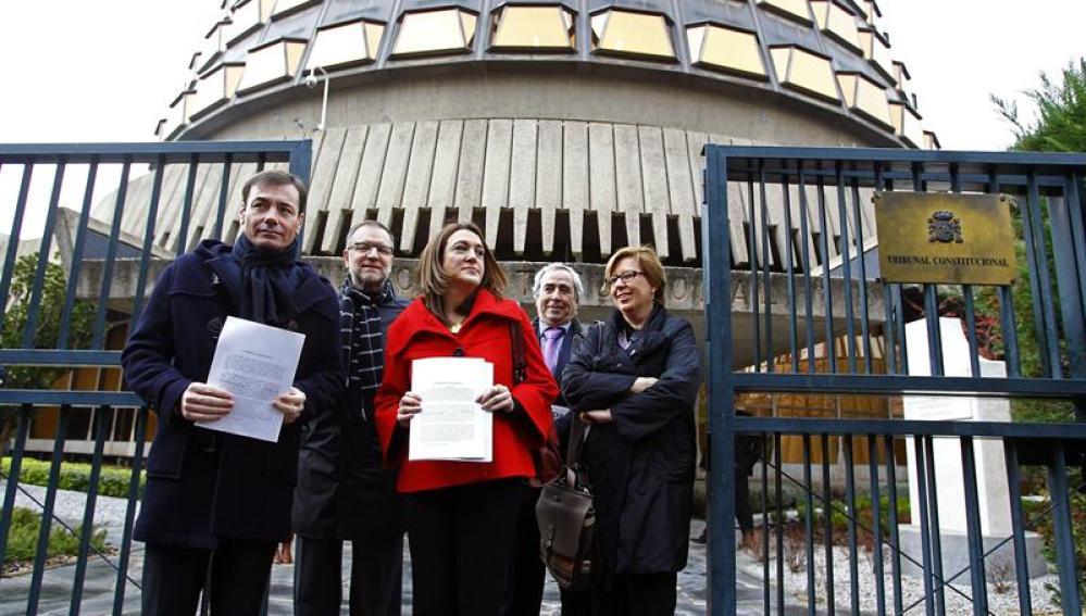 Soraya Rodríguez, Tomás Gómez, Marcelino Iglesias, Enrique Cascallana y Maru Menéndez