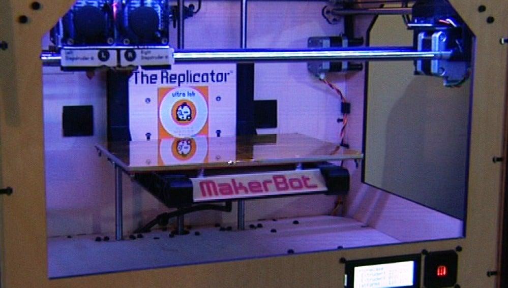 Así es una impresora 3D