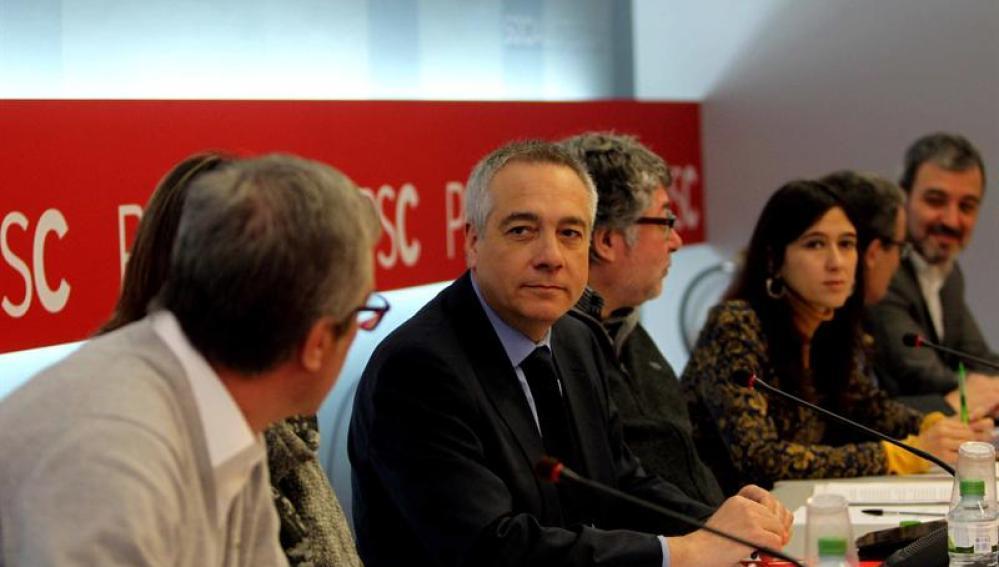 El primer secretario del PSC, Pere Navarro, preside la comisión ejecutiva del partido