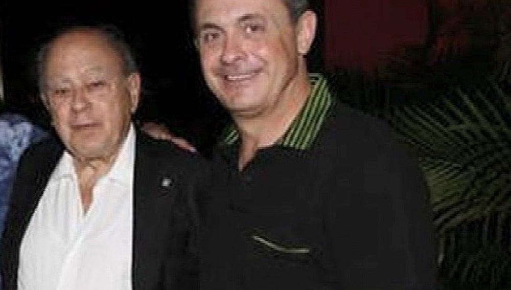 Jordi Pujol Ferrusola junto a su padre