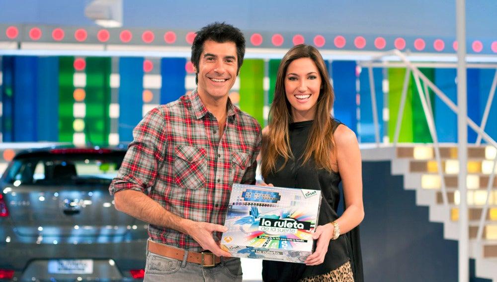 Jorge Fernández y Paloma en La Ruleta de la Suerte