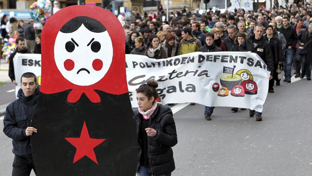 Manifestación en apoyo a los jóvenes de Segi