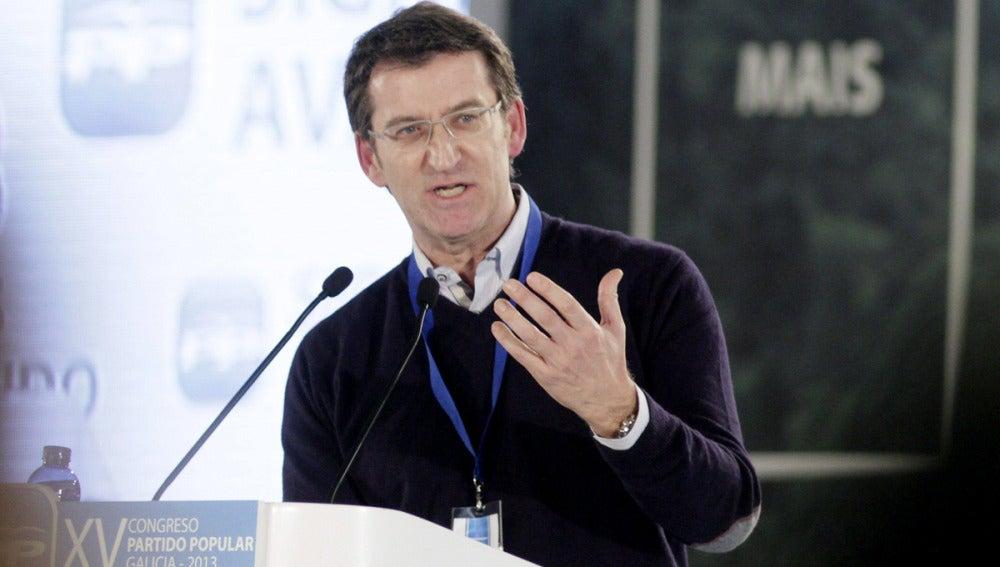 El líder de los populares en Galicia, Alberto Núñez Feijóo