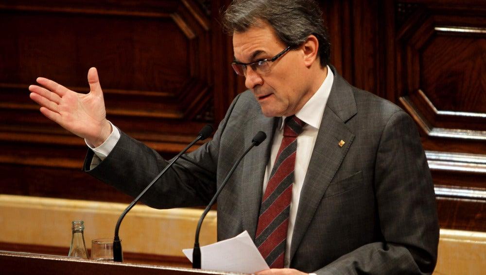 Artur Mas en el primer Pleno de la X legislatura