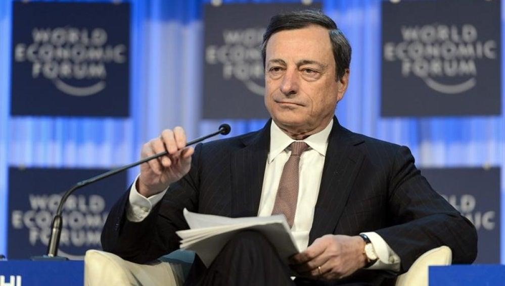 Mario Draghi en el Foro Económico Mundial de Davos