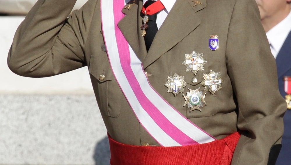 El rey Juan Carlos durante la Pascua Militar de 2013