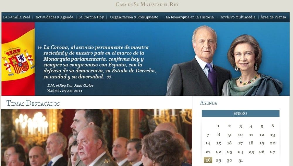 Pagina web de la Casa Real