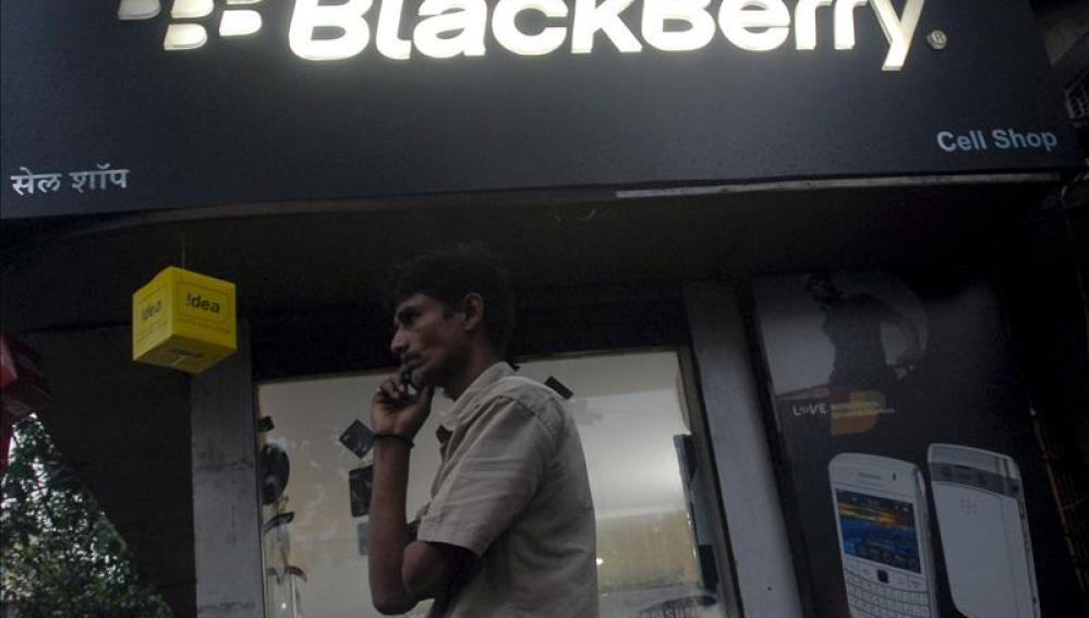 Stand de la firma canadiense BlackBerry