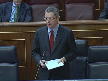 Ruiz Gallardón en el Congreso de los Diputados