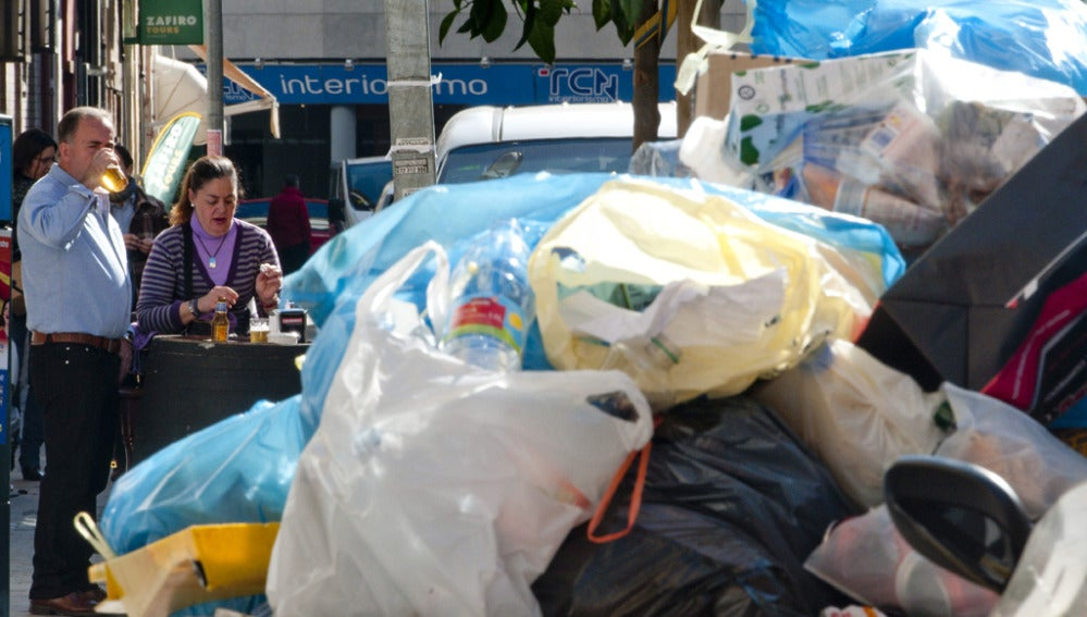 Huelga en la recogida de basuras de Sevilla