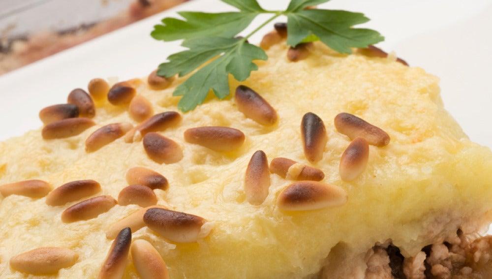 Pastel de patatas y carne picada