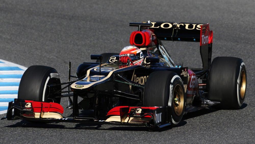 El E21 de Grosjean en Jerez