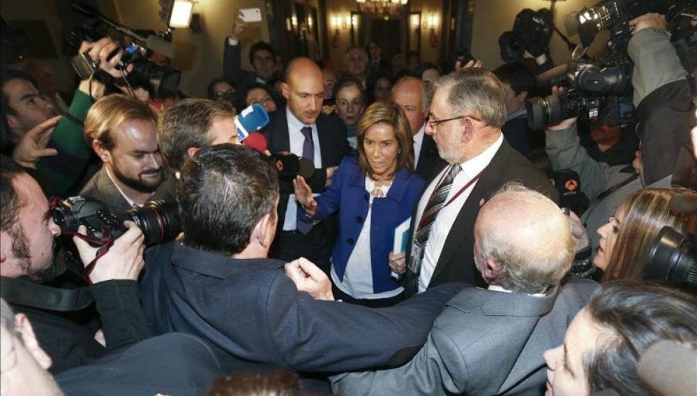 La ministra de Sanidad Ana Mato, a su llegada a un acto en el Senado