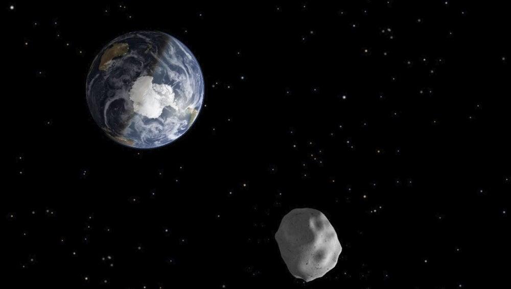 Un asteroide, muy cerca de la Tierra (archivo)