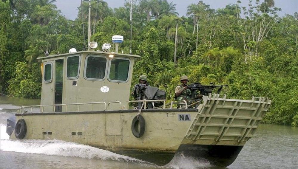Imagen de archivo de un barco militar nigeriano.