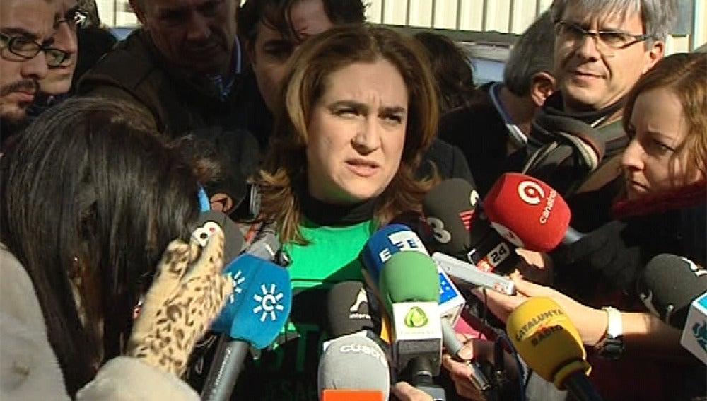 Ada Colau, portavoz de la Plataforma de Afectados por la Hipoteca